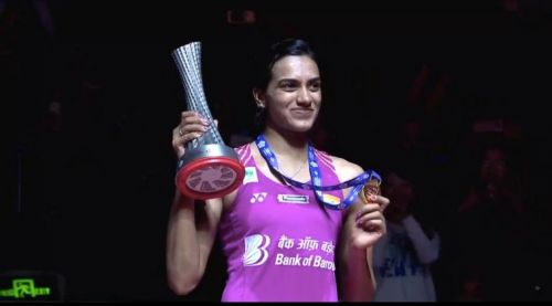 PV Sindhu wears a smile after clinching the gold medal at World Tour Finals 2018
