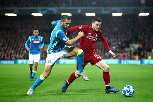 Robertson had a lot of joy in the attacking third