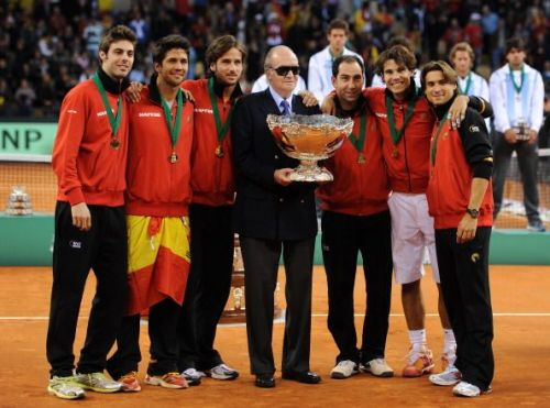 The victorious Spanish Davis Cup Team of 2011