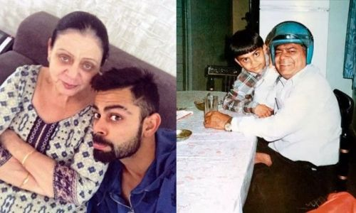 L-R: Saroj Kohli (Virat's mother) and Premnath Kohli (Virat's father)