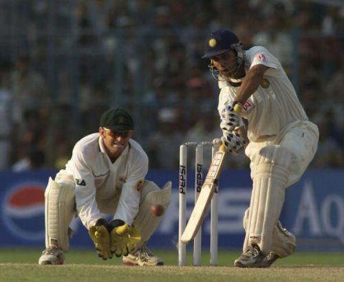 VVS Laxman during the 2001 series against Australia