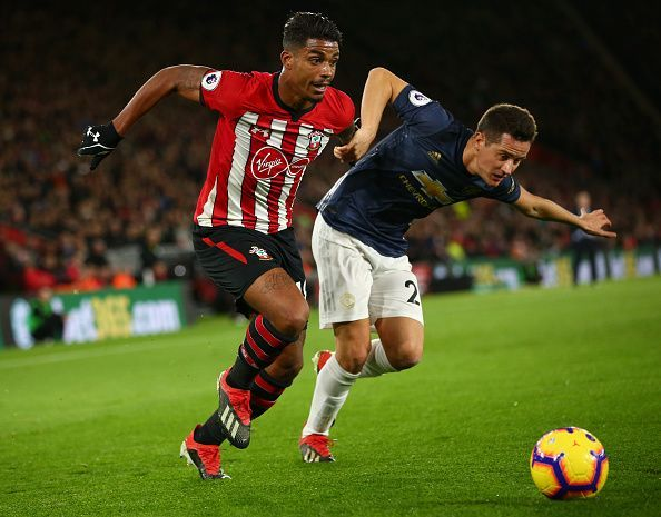 Herrera battled hard in midfield and needed to, given Southampton's bright start