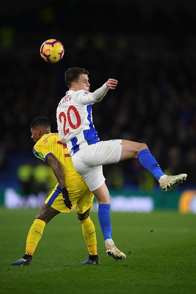 Brighton & Hove Albion v Crystal Palace - Solly March scoring a crucial goal