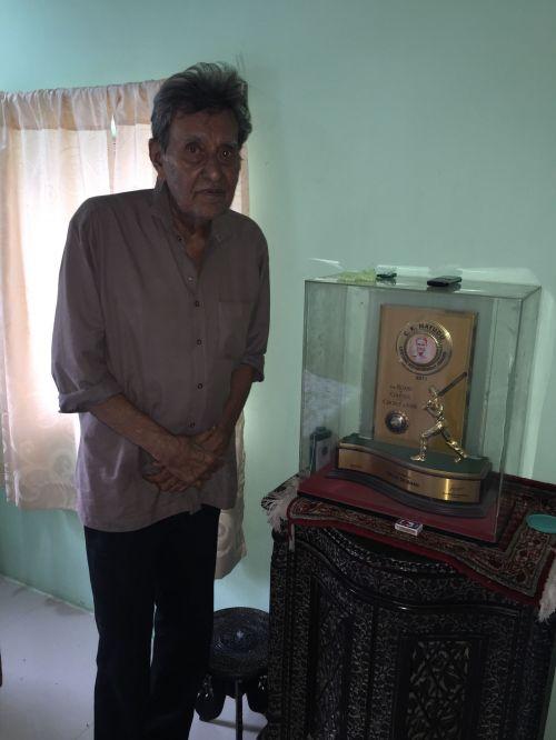 At his residence in Jamnagar