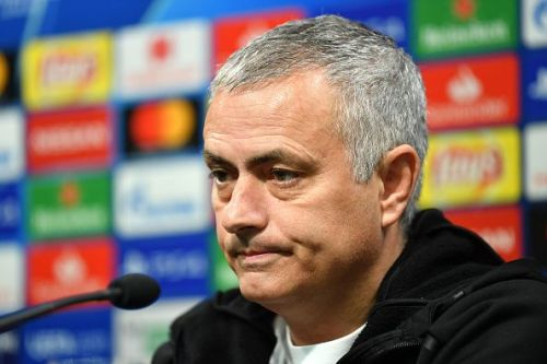 Jose Mourinho in a press conference during his time at Manchester United