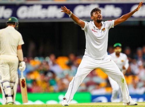 Lakmal picks 5 wickets