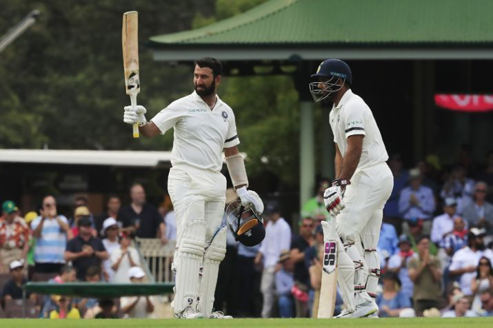 Chateshwar Pujara scored his third hundred of the series at Sydney