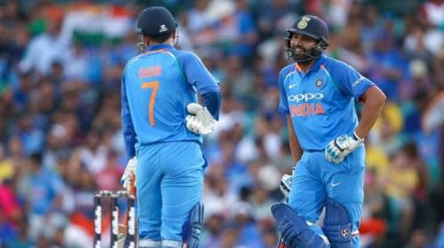 MS Dhoni and Rohit Sharma saved India from embarrassment in the first ODI