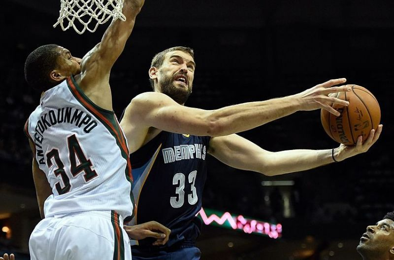Image result for Giannis antetokounmpo vs. Marc Gasol