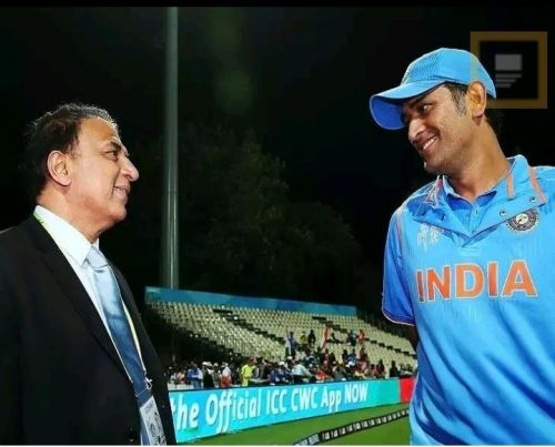 sunil gavaskar and MSDhoni