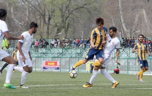 Nadong Bhutia while playing for Real Kashmir FC