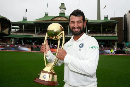 Chesteshwar Pujara after helping India win the Border-Gavaskar trophy