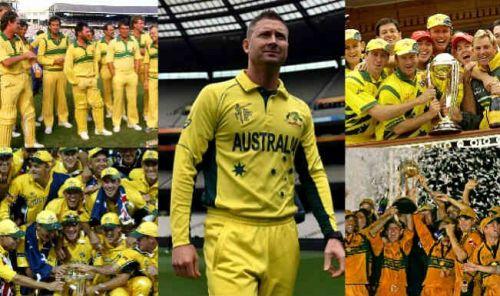 Australia's five World Cup winning teams
