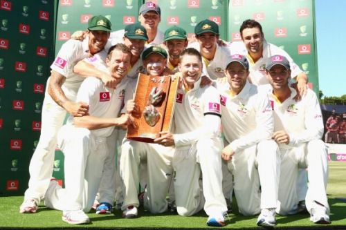 Australia won the Warne-Muralitharan Trophy in the 2012-13 series at home