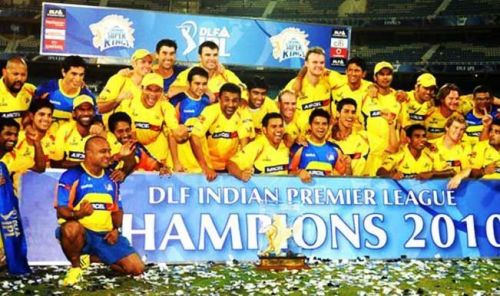 CSK won their 1st title in 2010