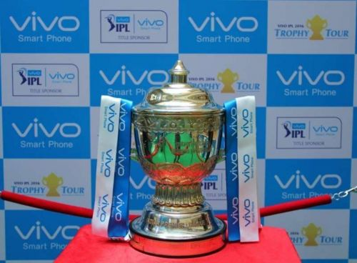 The prestigious Indian Premier League trophy