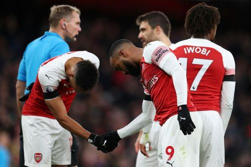 The pair of Aubameyang and Lacazette have been setting fire to defences this season