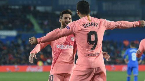 Luis Suarez and Lionel Messi