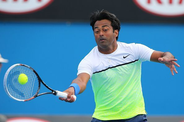 Leander Paes competing in his 24th Australian Open