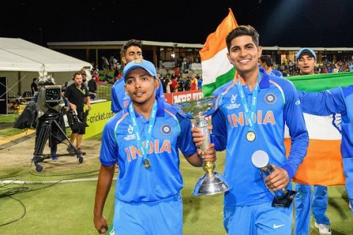 Shubman is the second member of the Indian under-19 team, class of 2018, to make it to the national team
