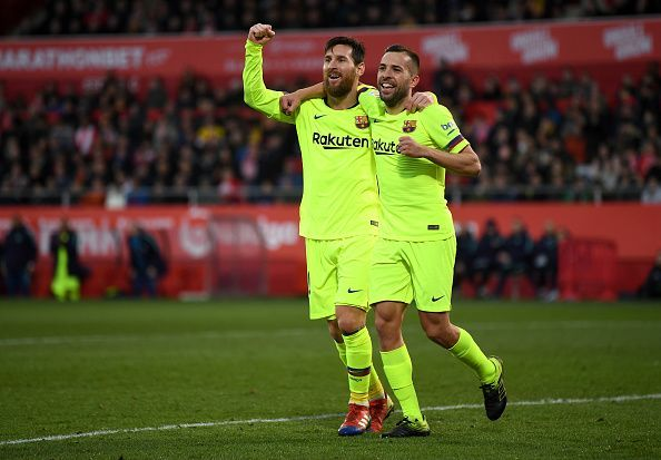 Messi and Alba combined for the second goal