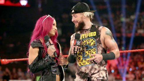 Sasha Banks had teamed up with Enzo Amore in the first ever Mixed tag team match of the New Era