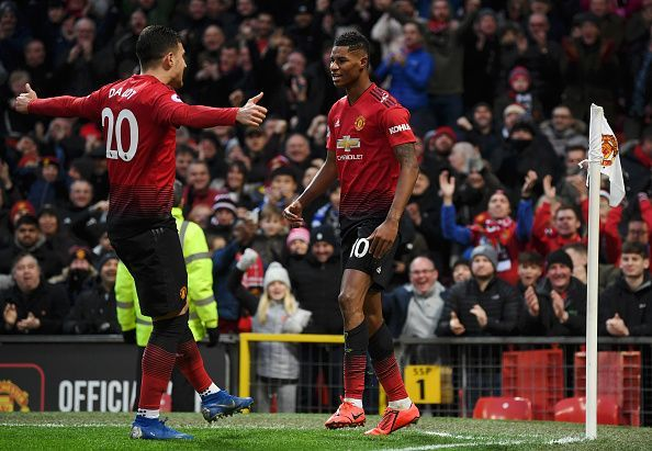 Rashford broke his own personal goalscoring record with strikes in consecutive games after another impressive finish