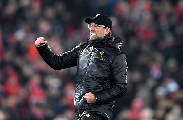 Klopp celebrates after the win