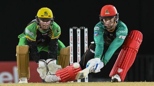 Rassie van der Dussen batting for St Kitts & Nevis Patriots
