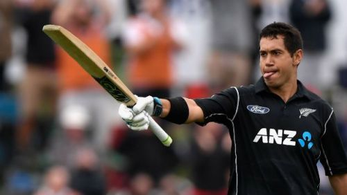 At home, Ross Taylor averages 59.14 against India with two centuries and two half-centuries