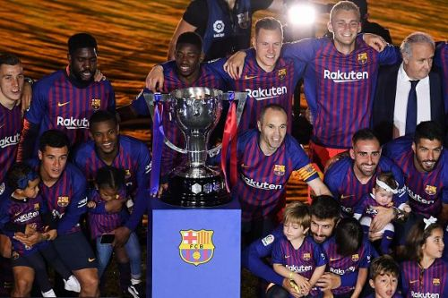Barcelona are current defending champions of La Liga