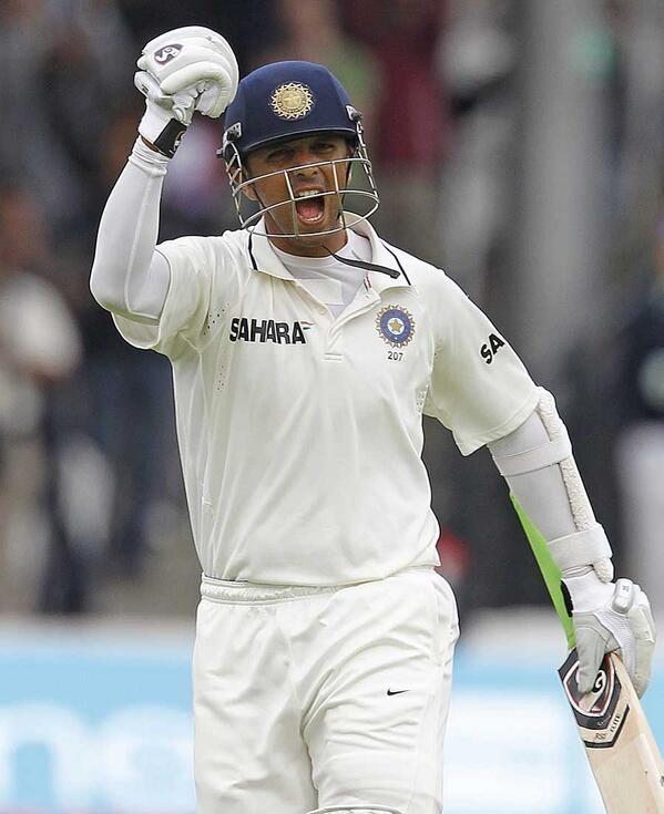 Dravid scored century