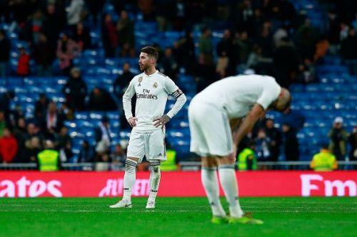 A dejected Sergio Ramos