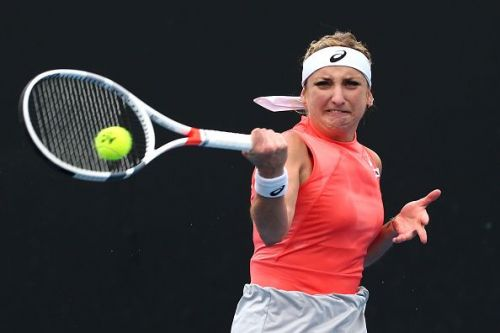 2019 Australian Open - Day 2 - Timea Bacsinszky ousted Daria Kasatkina in round one