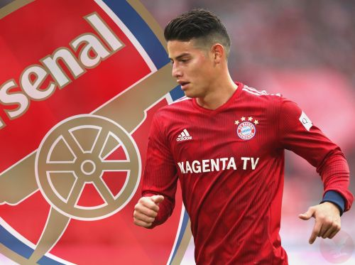 Arsenal is interested in signing James Rodriguez.