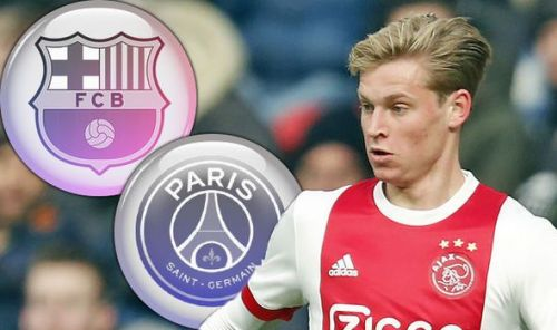 PSG edge ahead of Barcelona in the race of signing De Jong. (Image: Daily Express)