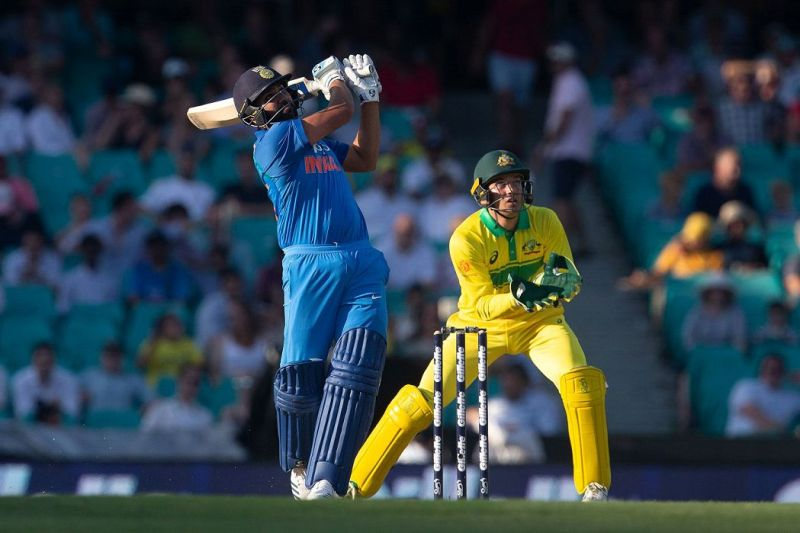 Rohit sharma hits 64 sixers against Australian team