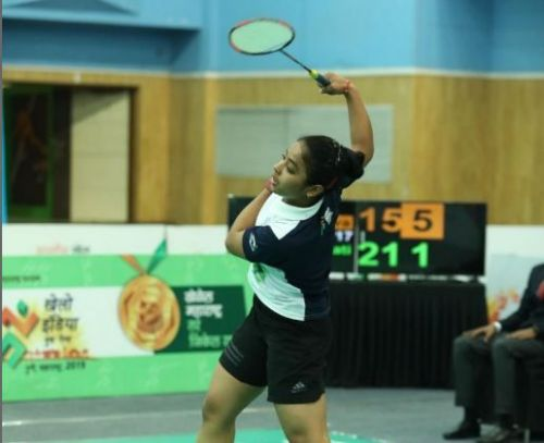 Unnati Bisht of Uttarakhand in action at Khelo India Youth Games