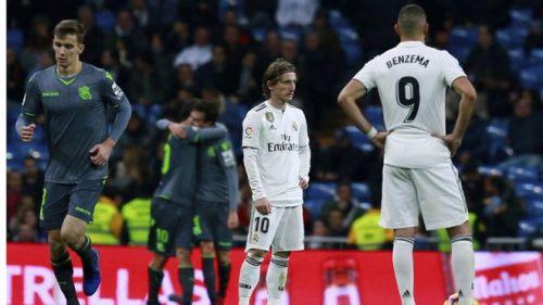 Real Madrid lost 2-0 at home to Real Sociedad