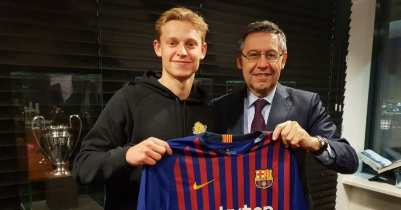 De Jong is the latest talent to leave Ajax for a top European club