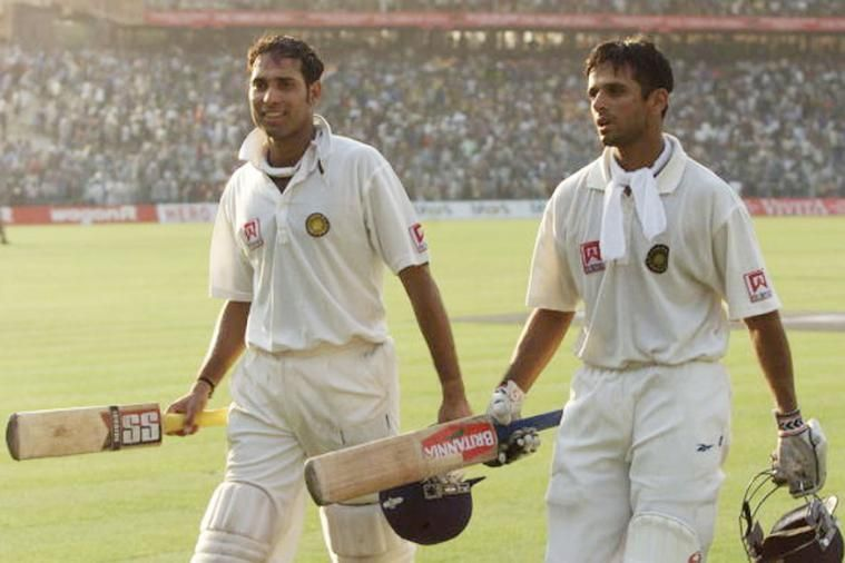 Laxman and Dravid after surviving the entire day of play