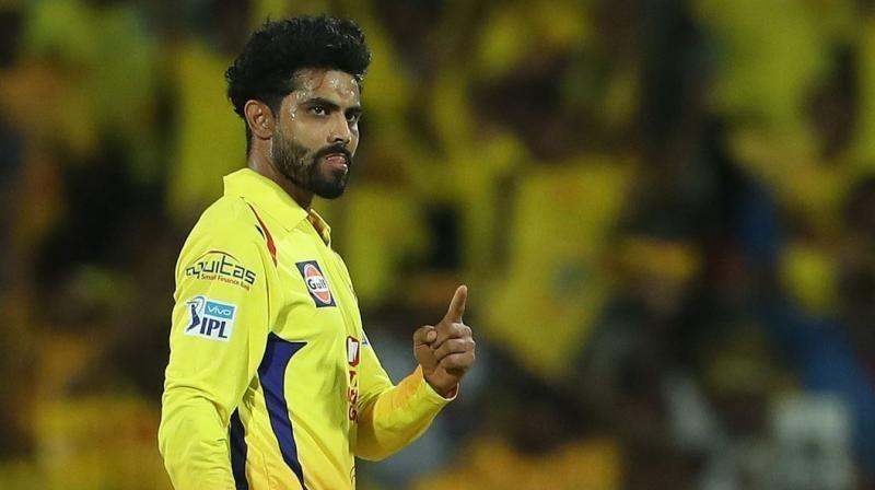 Ravindra Jadeja celebrates after taking a wicket