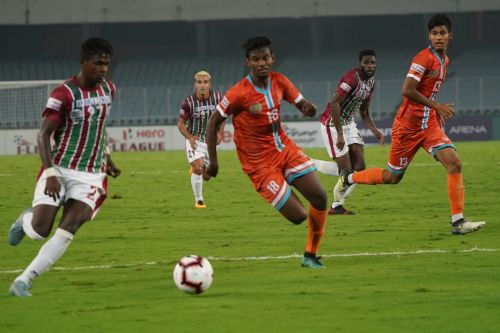 Ajith Kumar in action for Chennai City FC