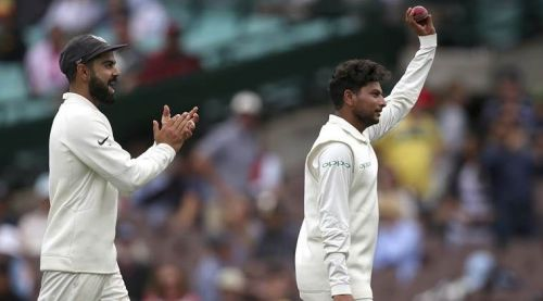 Kuldeep Yadav picking 5 for 99 in the first innings