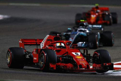 Vettel held off his rivals in Sakhir, despite having very little grip.
