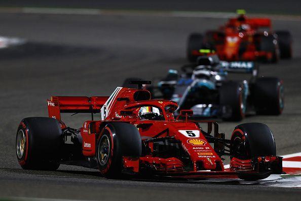 Vettel held off his rivals in Sakhir, despite having very little grip.
