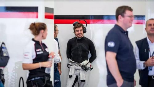Fernando Alonso is invariably the focus of the room he is in