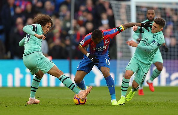 Torreira and Guendouzi in action vs Crystal Palace