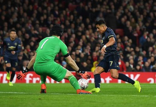Sanchez opened the scoring at his old stomping ground