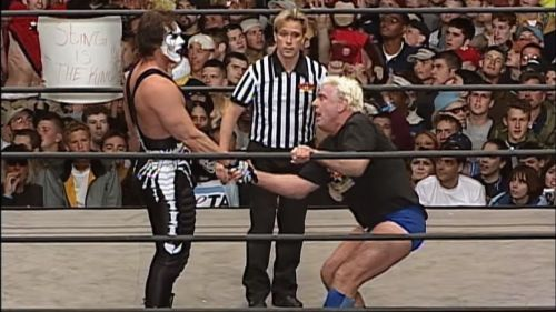 Sting and Flair competed in the final match in WCW history